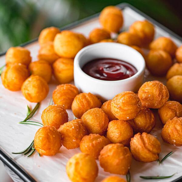 Double potato balls